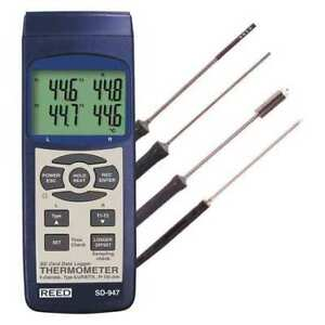 4 channel Thermocouple Thermometer Data Logger Kit Reed Instruments Sd 947deluxe