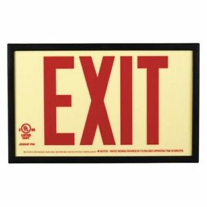 Jessup Glo Brite 7210 Photoluminescent Exit Sign P50 glow W rd
