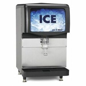 Ice Only Dispnsr countertop 200 Lb Cap Ice o matic Iod200