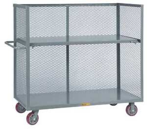 Bulk Storage Cart 48x30 w drop Shelf Little Giant T130486pyds
