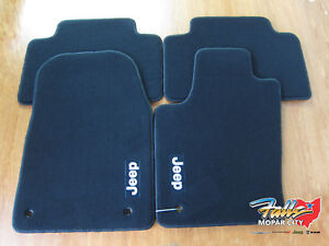 2013 2015 Jeep Grand Cherokee Premium Carpet Floor Mats Front Rear Mopar Oem