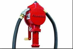 Fill rite Fr112 Hand Pump Rotary Heavy Duty Nozzle With 8 Foot Hose