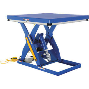 Electric Hydraulic Scissor Lift Table Vestil Ehlt 4848 3 43