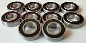 10pc 16002 2rs 15x32x8 Mm Hybrid Ceramic Ball Bearing Bearings 16002rs 15 32 8