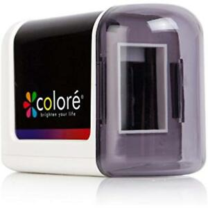 Colore Electric Pencil Sharpener Powerful Small Battery Operated Heavy Duty