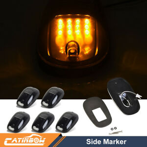 5x Smoked 12led Cab Roof Running Clearance Marker Light For Dodge Ram3500 Pickup