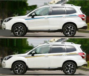 Graphics Stickers Decal Fit Subaru Forester Adhesive Vinyl Beltline Stripe 2 Pcs