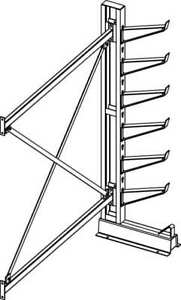 Inclined Add on Cantilever Rack 7 Ft H Jarke Cr 5a