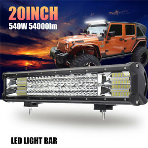 20 Inch 540w Led Work Light Bar Flood Spot Combo Offroad Driving Lamp Car Truck