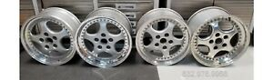 Genuine Porsche Turbo 3 6 Speedline 3 Piece Wheels 18x10 18x8 Oem 1993 1994 965