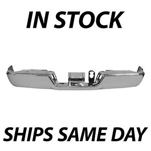New Chrome Rear Bumper Steel Face Bar For 2013 2018 Dodge Ram 2500 3500 Series