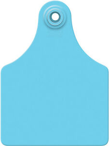 Allflex Global Maxi Blank Cattle Ear Tags 25 Count Blue
