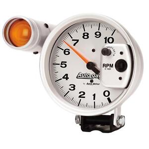 Autometer 233911 Autogage Shift Lite Tach 10k Rpm 5 Dia Electrical Silver