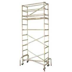 Scaffold Tower 18 1 2 Ft H Aluminum Werner Gw402