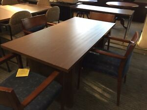 5 Rectangular Conference Table In Walnut