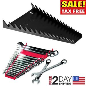 Wrench Organizer Tray Rail Storage Rack Sorter Standard Socket Holder 16 Tools