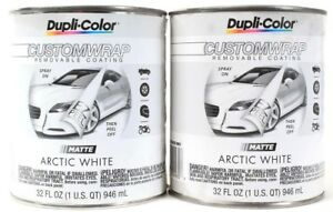 2 Dupli Color Customwrap Removable Coating Matte Arctic White Spray On Peel Off