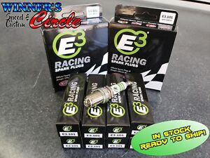 E3 Spark Plugs E3 101 Race Plug 14mm 750 Reach Gasket Seat Set Of 8 Plugs