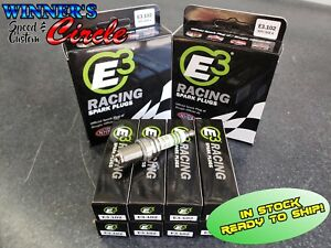 E3 Spark Plugs E3 102 Race Plug 14mm 750 Reach Gasket Seat Set Of 8 Plugs