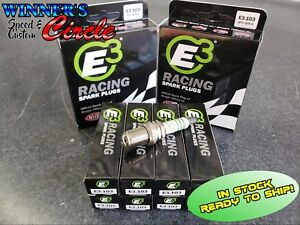 E3 Spark Plugs E3 103 Race Plug 14mm 750 Reach Gasket Seat Set Of 8 Plugs