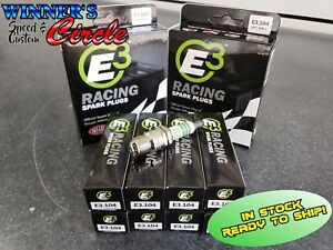 E3 Spark Plugs E3 104 Race Plug 14mm 460 Reach Taper Seat Set Of 8 Plugs