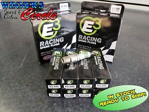 E3 Spark Plugs E3 105 Race Plug 14mm 460 Reach Taper Seat Set Of 8 Plugs