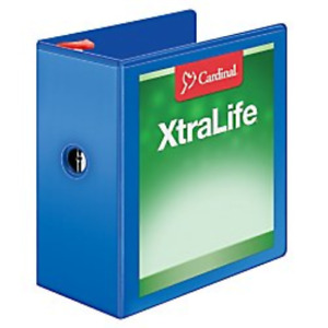 Cardinal Xtralife 3 ring Binder 5 W Shelf Pull Locking Slant d Rings Holds