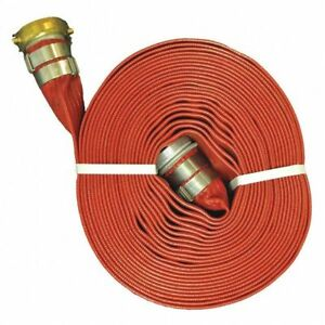 Red Hd Pvc Discharge Hose 1 5 x50 Ft Eagle A008 0241 3550