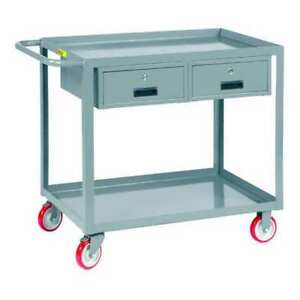 Utility Cart steel 54 Lx24 W 1200 Lb Little Giant Lgl2448bk2dr