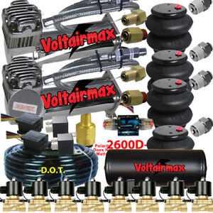V 480 Air Compressors 1 2 Valves Air Ride Bags Tank 150 Psi Switch