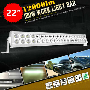 22inch Led Light Bar Offroad 120w 4wd Suv Atv Combo White Driving Lamp 20 24