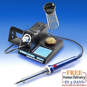 Variable Power 70 Watt Soldering Station With Extra Heating Element And Sponge