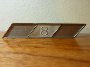 Studebaker 8 1360157 Roth 974 1 2 Emblem Badge Plaque With Mounting Pins