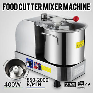 Stainless Steel Food Cutter Mixer 6l 2000r min Food Grinder For Meat 110v