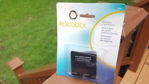 New Rolodex 67699 One Sheet Business Card 2 hole Punch For 2 25 X 4 Card Files