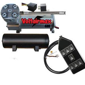 V Air Compressor 480 Airbagit 3 Gallon 7 switchbox Relay W pigtail