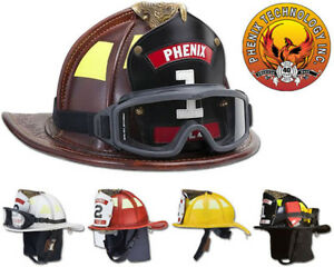 Phenix Tl2 Traditional Leather Firefighting Helmet All Colors Standard Bend