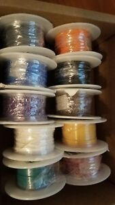 10 X Belden Hook up Wire 26awg Tfe 100ft Spools 83002 Various Colors Teflon