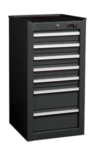 Sp Tools Side Cabinet 7 Driveawer Black Sp40131