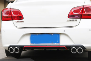 Black red Tailgate Diffuser Rear Bumper Exhaust Pipe For Chevrolet Cruze 2015