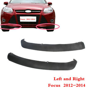 Fit For Ford Focus 2012 2014 Left Right Front Bumper Spoiler Lip Chin Splitter