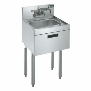 Krowne Kr18 12dst Commercial nsf Under Counter Stainless Steel Bar Wash Sink