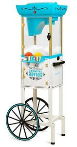 Nostalgia Snow Cone Machine Maker Commercial Cart Ice Snowballs Shaving Vintage