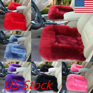 Universal Car Cover Seat Protector Cushion Soft Fuzzy Front Rear Cover Pad Mat