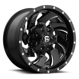 5 17 Fuel Cleaver Black Milled Wheels Rims 37 Mt Tires 5x5 Jeep Wrangler Jk