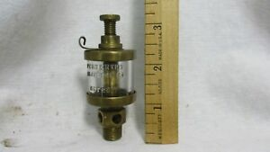 Vintage Brass Hit Miss Engine Brass Oiler Penberthy Injector Co small 11m