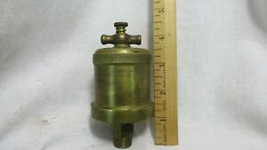 Vintage Brass T handle Hit Miss Engine Grease Cup Oiler 3g