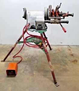 Ridgid 300 Pipe Threading Machine W Tristand Foot Pedal And Complete Carriage
