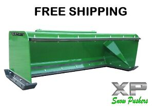 6 Low Pro Pullback John Deere Quick Attach Snow Pusher Box Free Shipping rtr