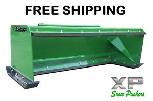 7 Low Pro Pullback John Deere Quick Attach Snow Pusher Box Free Shipping rtr